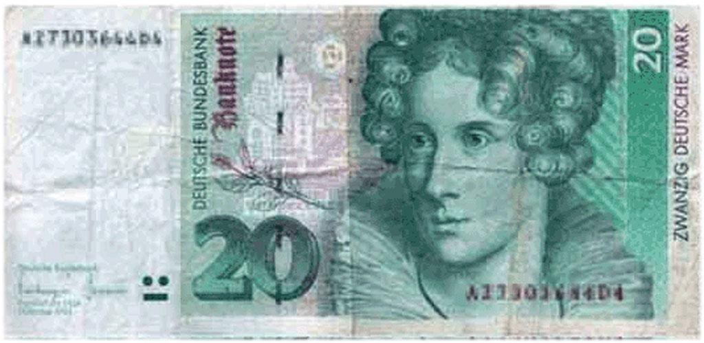 DM Schein, Zwanzig Deutsche Mark