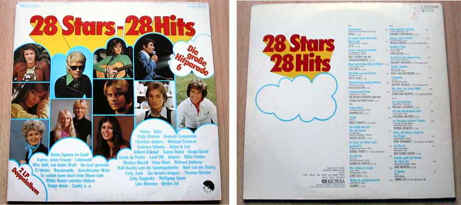 Schallplatte mit 28 Stars und 28 Hits