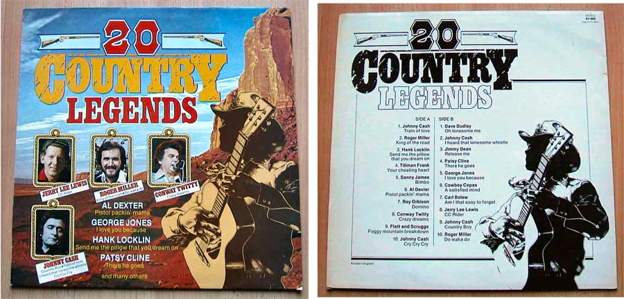 20 Country Legends - Country-Musik - LP Vinyl von 1984?
