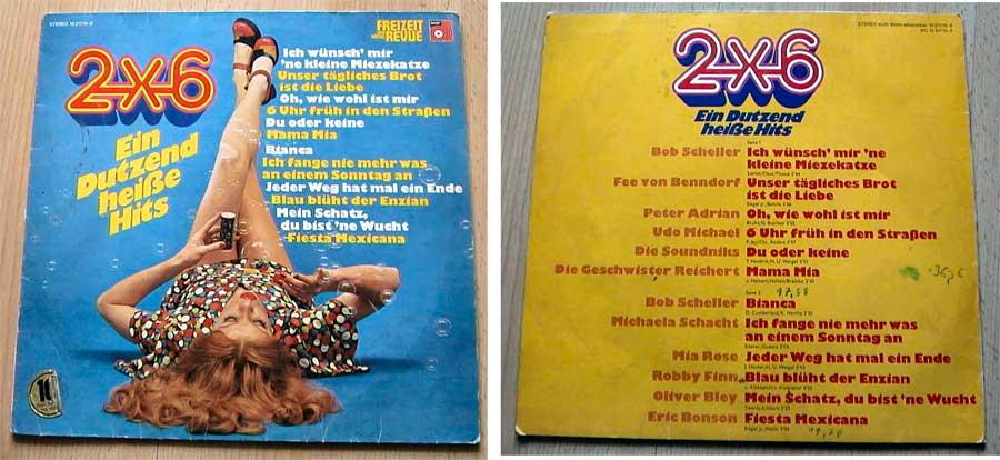 2x6 Ein Dutzend heiße Hits - LP Vinyl aus den 1970ern