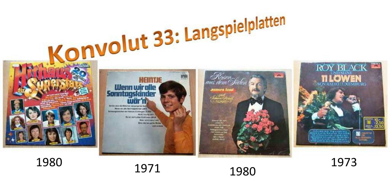 Langspielplatten - LP's aus alten Zeiten