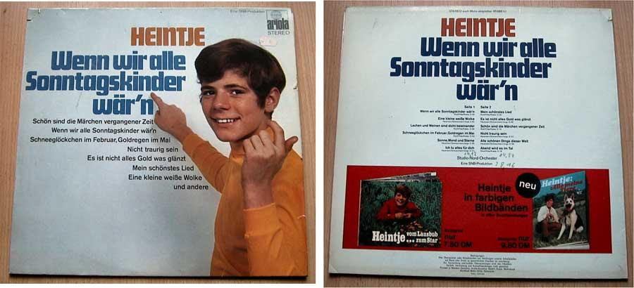 Heintje - Wenn wir alle Sonntagskinder wär'n - LP Vinyl
