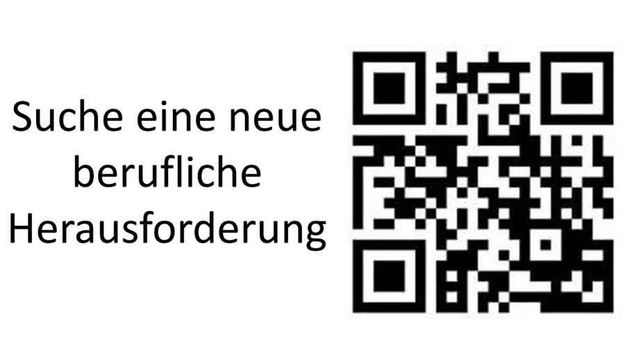 Suche neue Herausforderung - Banner der Online-Bewerbung