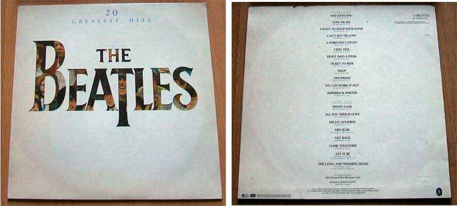 Musiksammlung the beatles Schallplattencover