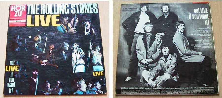 the rolling stones live Schallplattencover