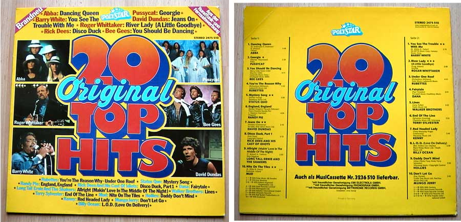 20 Original Top Hits - LP Vinyl von 1976