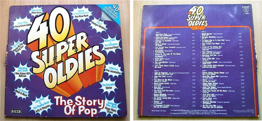 40 Super Oldies - The Story Of Pop - Doppel-LP Vinyl von 1974