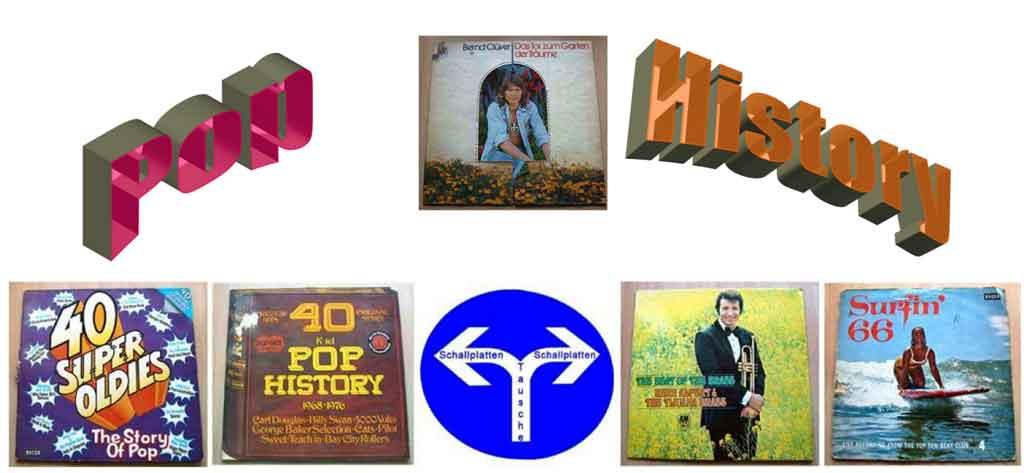 Banner der Pop History auf Schallplatten