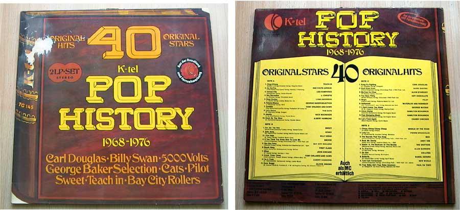 Pop History - Original Hits und Original Stars - Doppel-LP Vinyl von 1968-1976