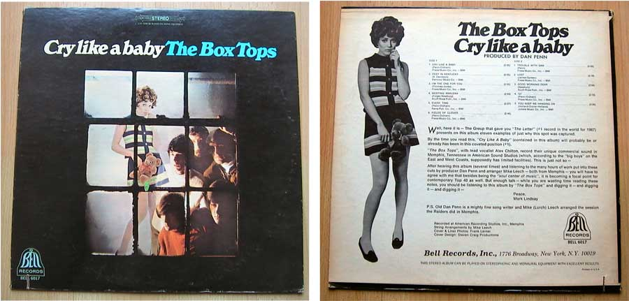 The Box Tops - Cry Like A Baby - LP Vinyl von 1968