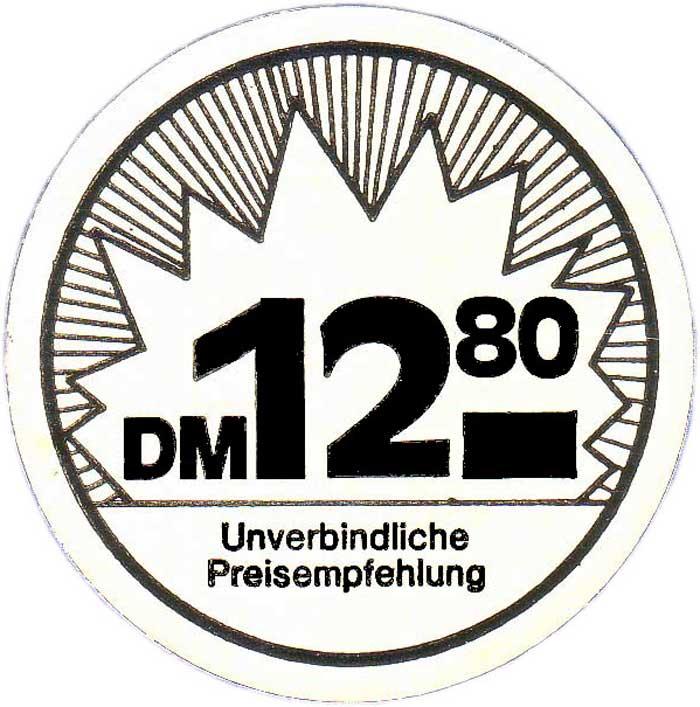 Sonderangebote UVP Abbildung der D-Mark