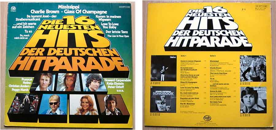 Neuesten Hits Der Deutschen Hitparade auf - Vinyl, LP