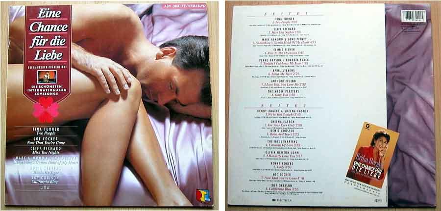 LP Vinyl, Schallplatte mit Lovesongs - Erika Berger