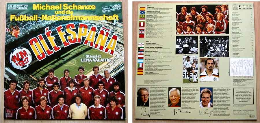 LP Vinyl mit Michael Schanze und der Fußball Nationalmannschaft