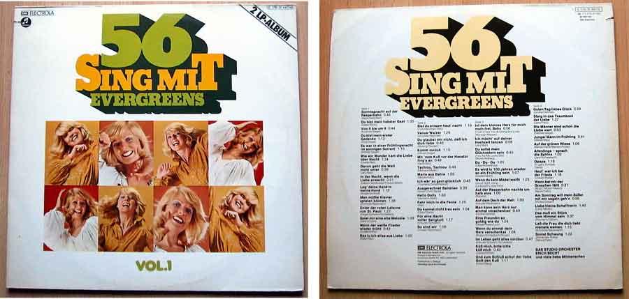 LP Vinyl Schallplatte mit 56 Songs - Singe mit Evergreens