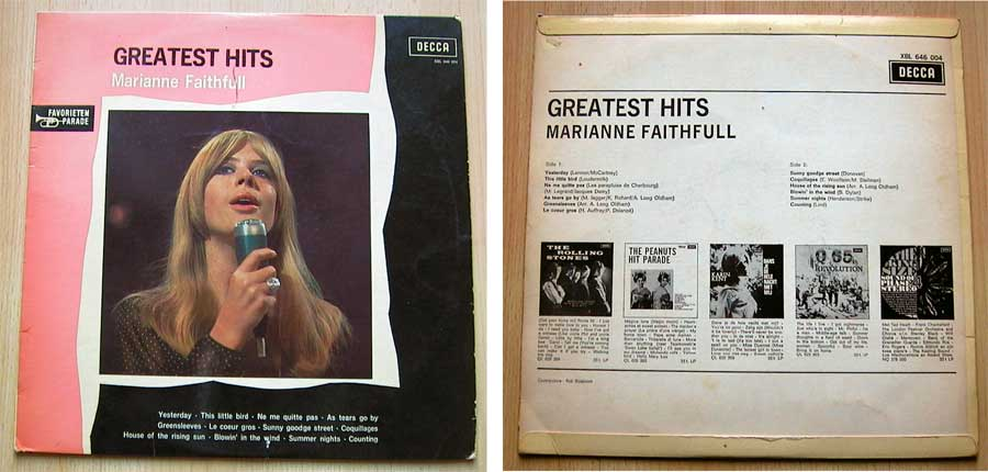 Marianne Faithfull - Greatest Hits - LP Vinyl von 1968