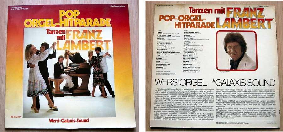 Tanzen mit Franz Lambert - Pop-Orgel-Hitparade - LP Vinyl von 1978
