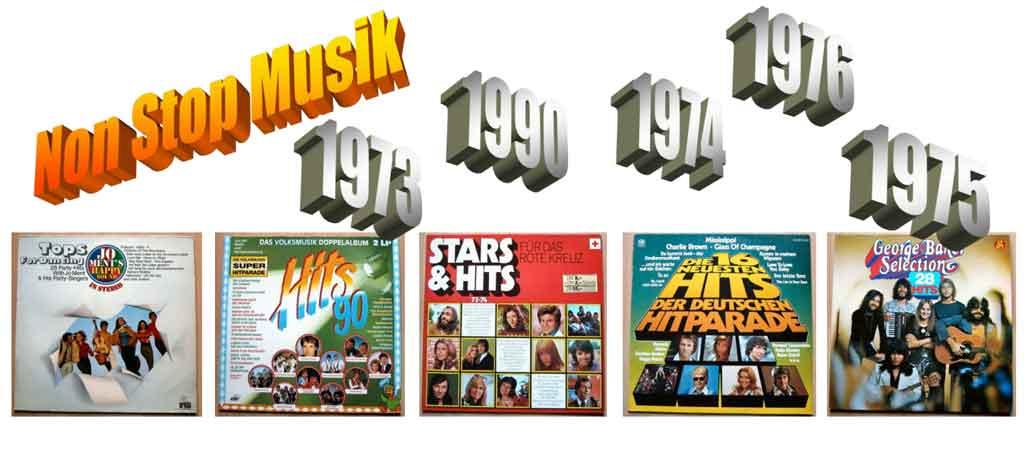 Retro Banner über die Schallplatten Vinyl