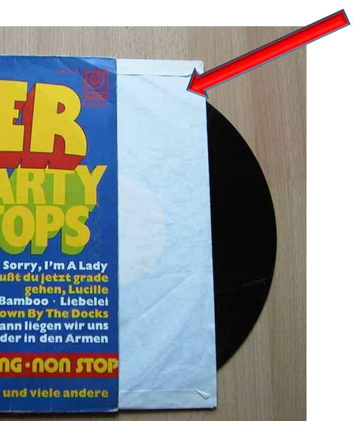 Schallplatten Innenhüllen zum Schutz der Platte