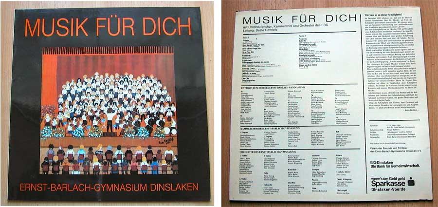 Musik für Dich - Ernst-Barlach-Gymnasium Dinslaken - LP Vinyl von 1984