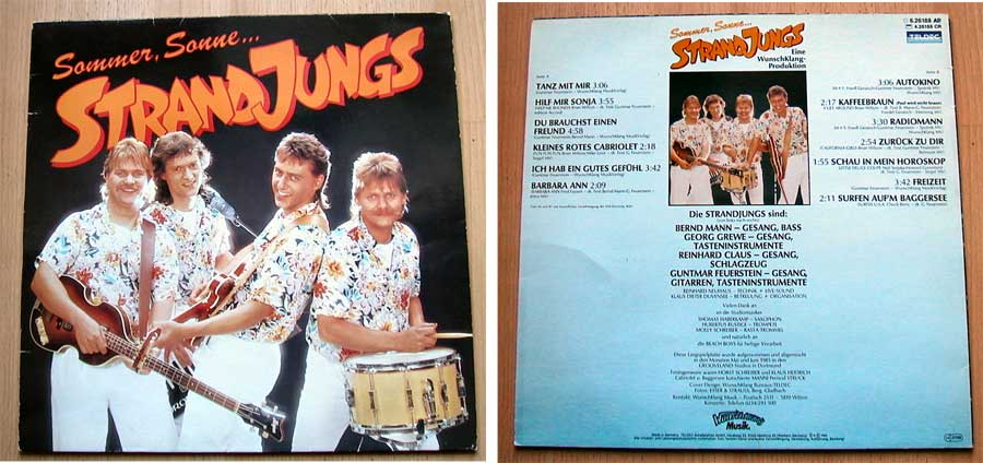 Sommer, Sonne... Strandjungs - LP Vinyl von 1985