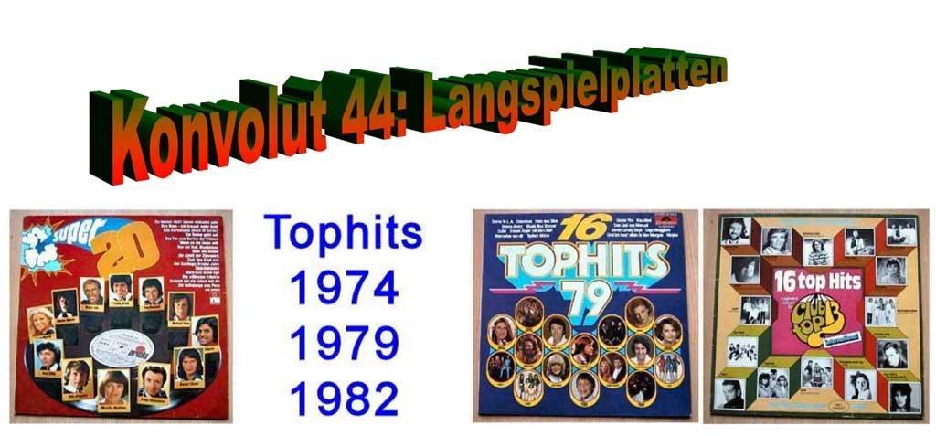 Schallplattenalben - Tophits aus den Hitparaden