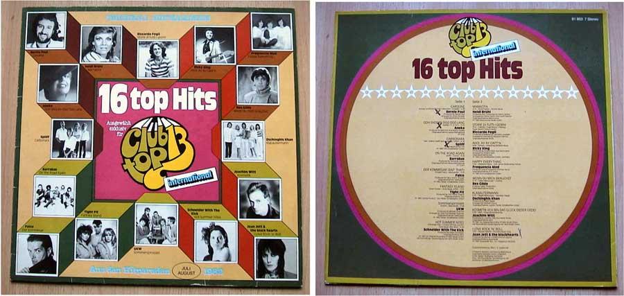16 Tophits auf LP Vinyl von July und August 1982