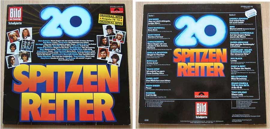 20 Spitzenreiter - Bild am Sonntag - LP Vinyl von 1978