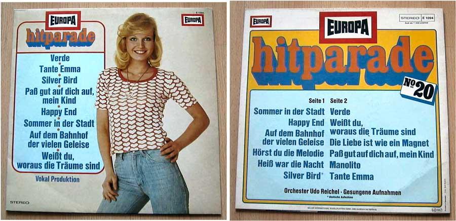 Europa Hitparade No. 20 - Orchester Udo Reichel - LP Vinyl von 1976