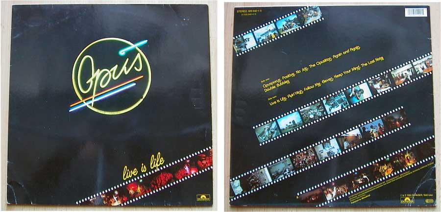 Echt scharf Opus - Live Is Life - LP Vinyl 12 Zoll