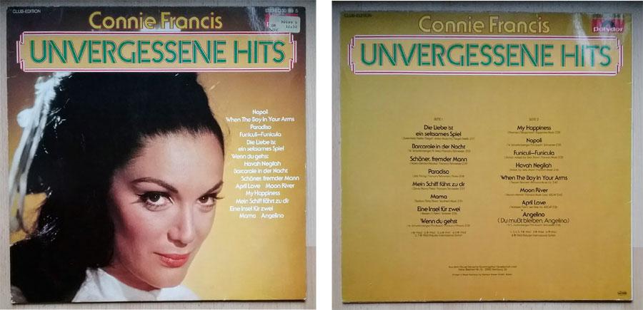 Connie Francis und ihre Hits auf LP Club Edition