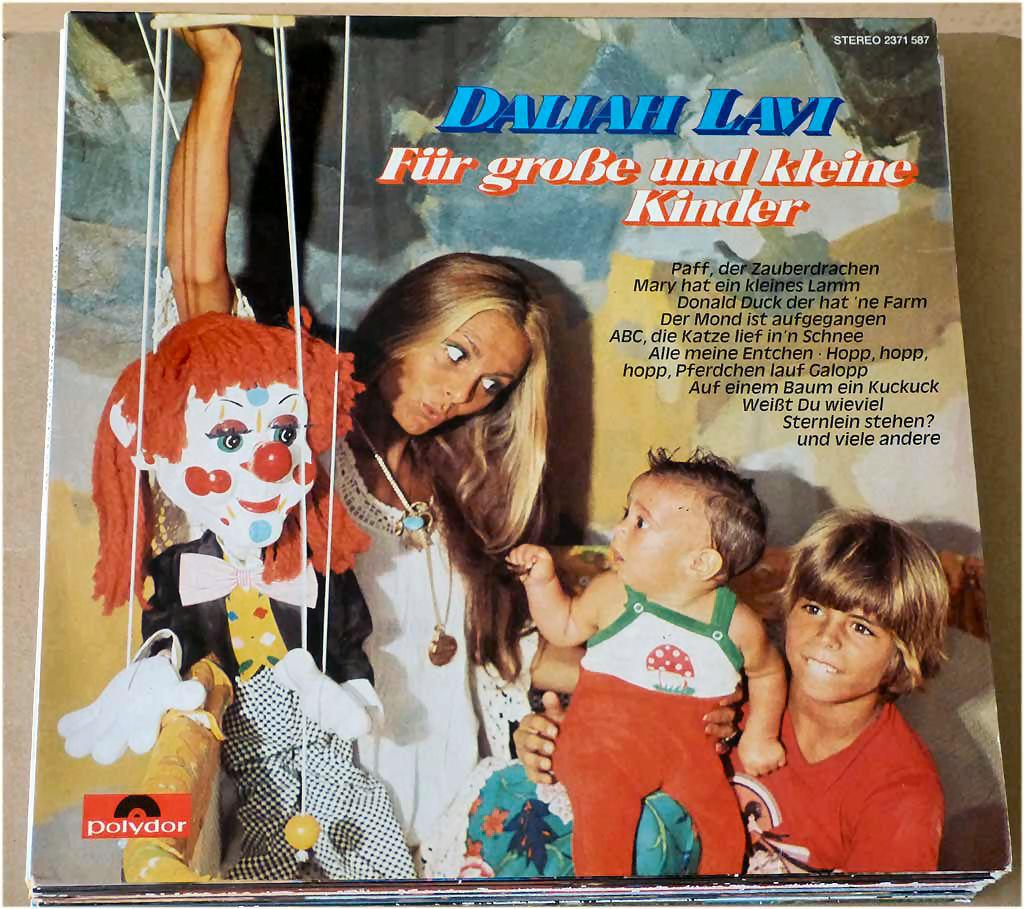 Schallplatte mit populären Kinderliedern