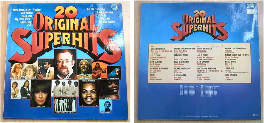 20 Original Superhits auf LP Vinyl von 1977