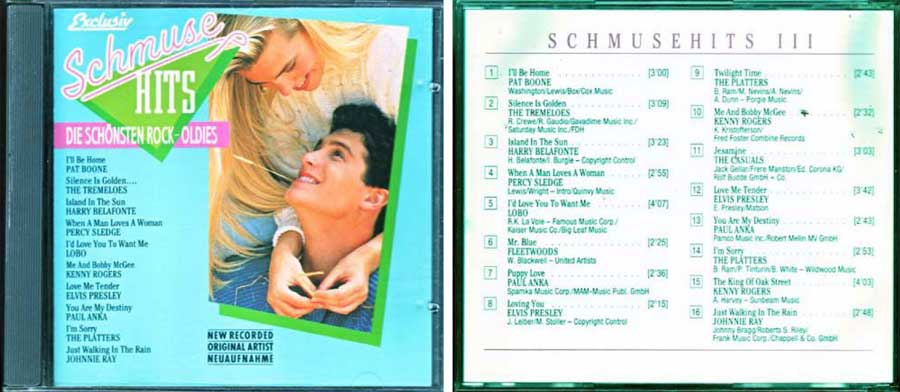 Schmuse Hits - rock oldies CD Cover