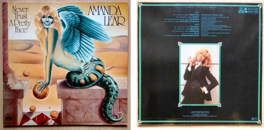 Langspielplatte Album von Amanda Lear mit Poster