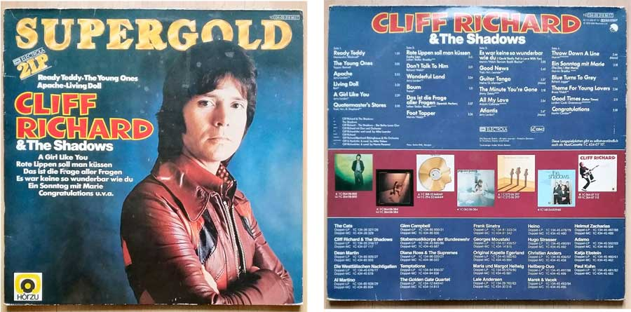 Vinyl Doppelalbum Supergold mit Cliff Richard