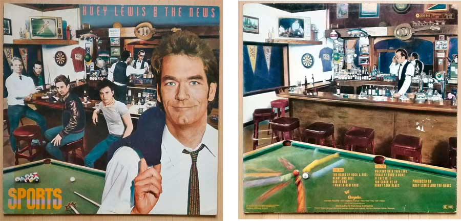 Pop-Rock auf Schallplatte von Huey Lewis And The News