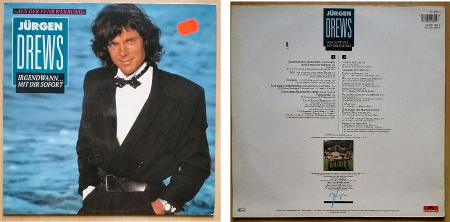 Schallplatte mit Schlagermusik von Jürgen Drews