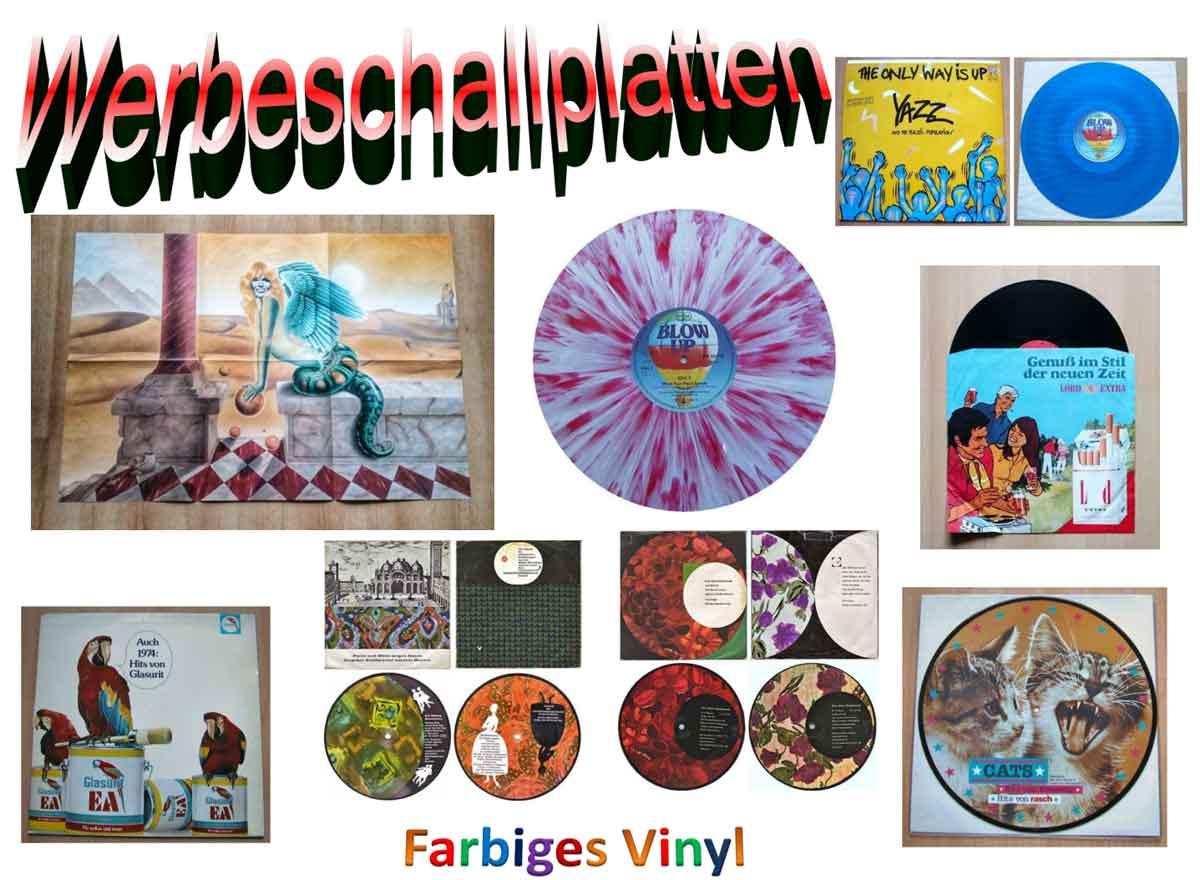 Werbeschallplatten und farbiges Vinyl
