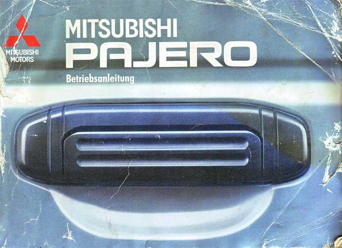 Mitsubishi Pajero Betriebsanleitung
