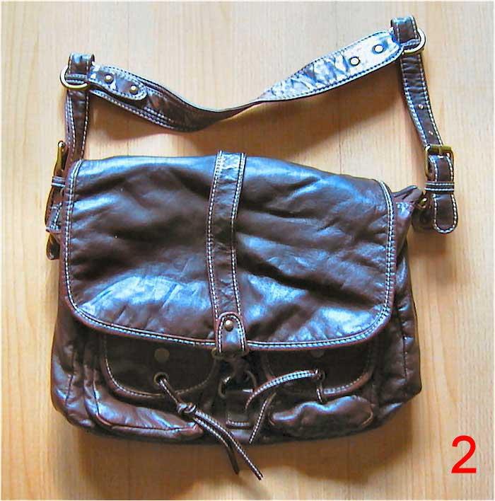 Braune Handtasche, Kunstleder Tasche