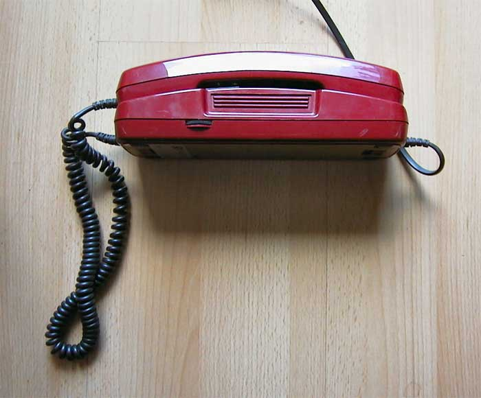 Analoges Telefonmodell Rot Dallas
