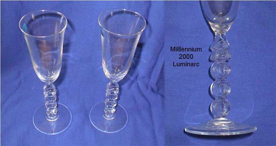 Sektgläser vom Millennium Jahr 2000