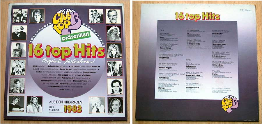 Club Top 13 - 16 Top Hits - Juli und August 1983