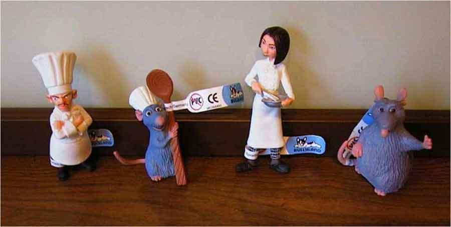 Gebrauchte Disney Ratatouille - Original Bullyland - 4 Figuren