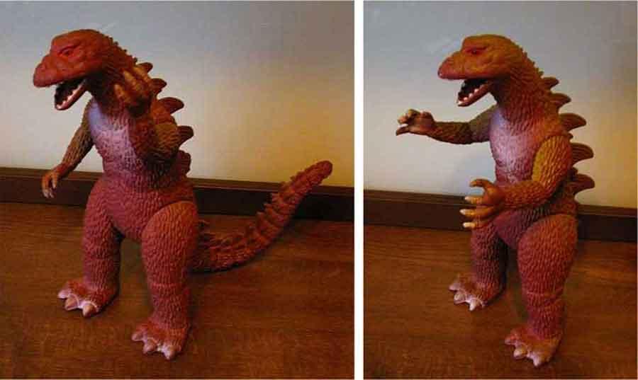 Godzilla das japanische Filmmonster aus dem Kino