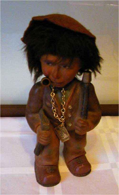 Eine Wackelkopf Puppe