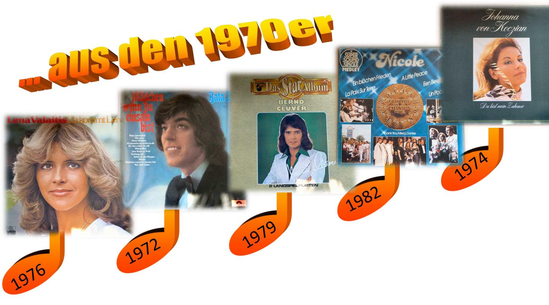 Stars der 70er auf Schallplatte