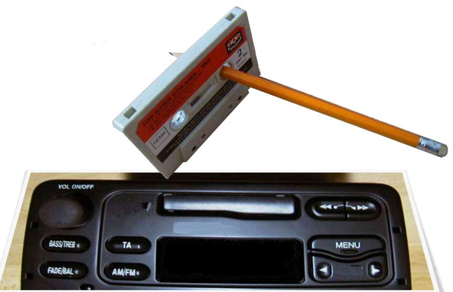 Langspielschallplatten zum Tauschen ein Autoradio