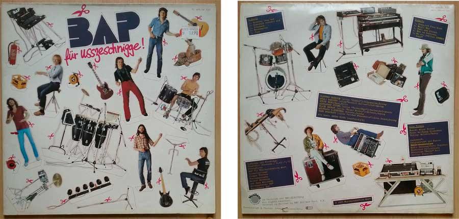 Schallplatte von BAP, das Album für Usszeschnigge